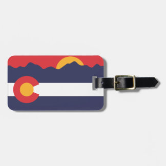Colorado Flag & Mountains Luggage Tag