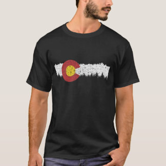 Colorado Flag Moutain Vintage - Colorado Day T-shi T-Shirt