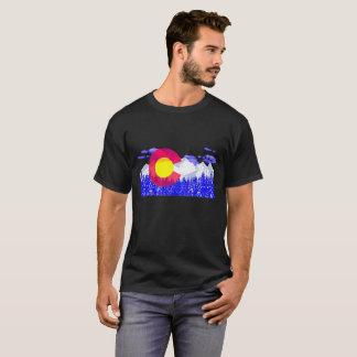 Colorado Flag Moutain Vintage - Colorado Day T-Shirt