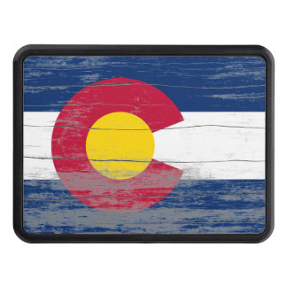 Colorado Flag Old Paint Trailer Hitch Cover