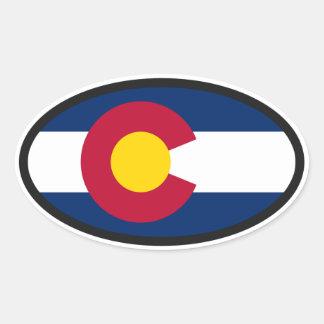 Colorado Flag Oval Oval Sticker