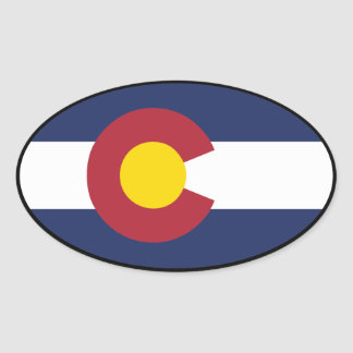Colorado Flag Oval Sticker