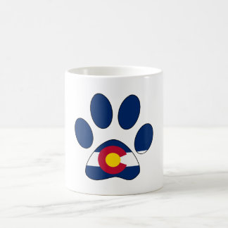 Colorado flag paw print coffee mug