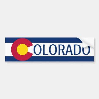 Colorado flag plain bumper sticker