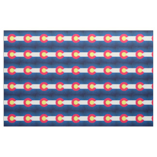 Colorado flag repeat pattern fabric