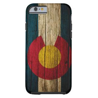 Colorado Flag rustic wood Tough iPhone 6 Case