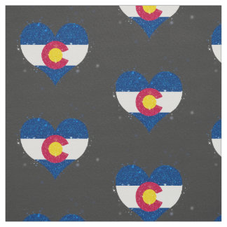 Colorado Flag Shining Unique Fabric