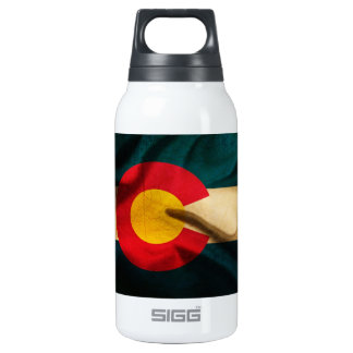 Colorado Flag Silky Insulated Water Bottle