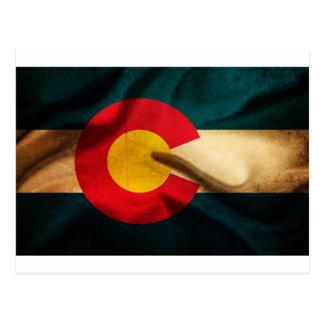 Colorado Flag Silky Postcard