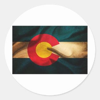 Colorado Flag Silky Round Sticker