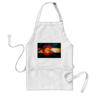 Colorado Flag Silky Standard Apron