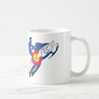 Colorado flag snowmobile coffee mug