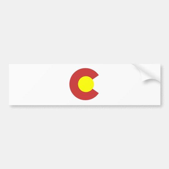 Colorado Flag Symbol Bumper Sticker