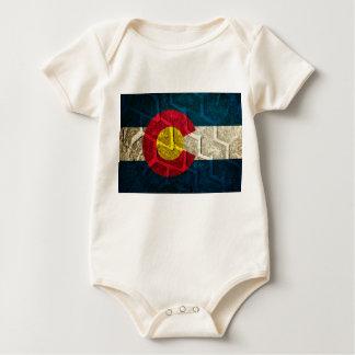Colorado Flag Tire Tread Baby Bodysuit