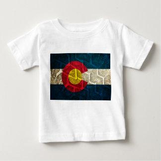 Colorado Flag Tire Tread Baby T-Shirt
