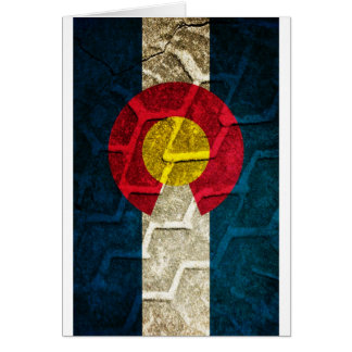 Colorado Flag Tire Tread Card