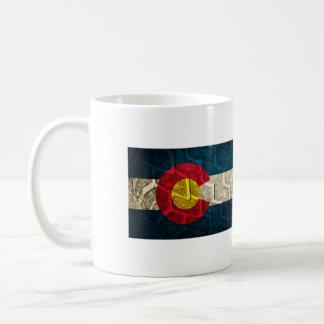 Colorado Flag Tire Tread Coffee Mug
