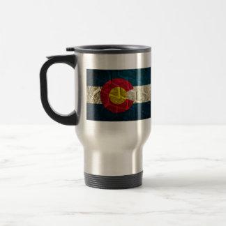 Colorado Flag Tire Tread Travel Mug