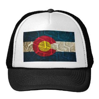 Colorado Flag Tire Tread Trucker Hat