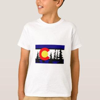 Colorado Flag Tree Silhouette T-Shirt