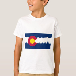 Colorado Flag Treeline Silhouette T-Shirt