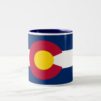 Colorado Flag Two-Tone Coffee Mug
