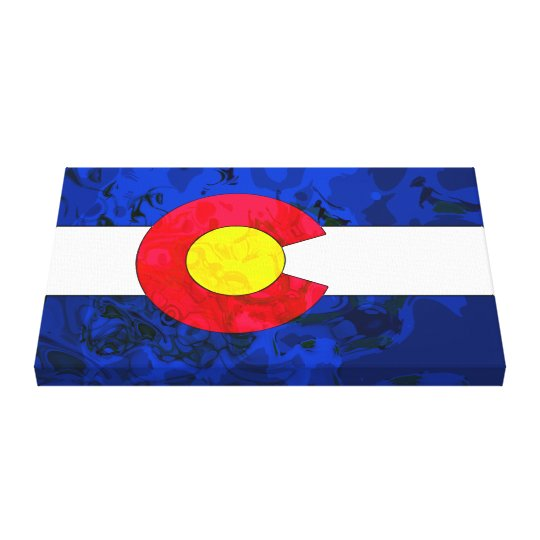 COLORADO FLAG Wrapped Canvas Print