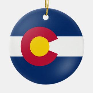 Colorado Flair Ceramic Ornament