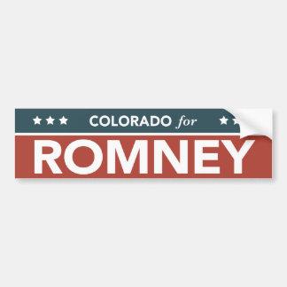 Colorado For Mitt Romney Ryan Bumper Sticker