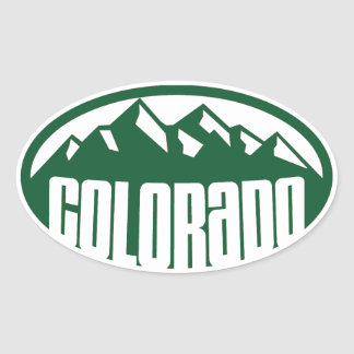 Colorado Green Oval Oval Sticker