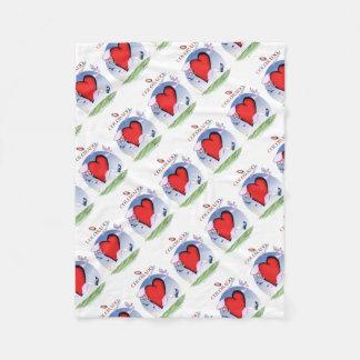 colorado head heart, tony fernandes fleece blanket