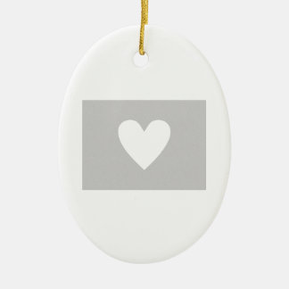 Colorado heart ceramic ornament
