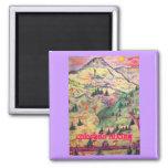 colorado hiking square magnet