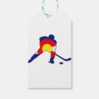 Colorado Hockey Player Gift Tags