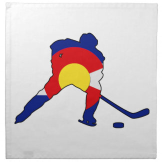 Colorado Hockey Player Napkin