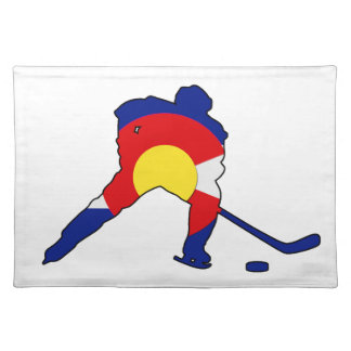 Colorado Hockey Player Placemat