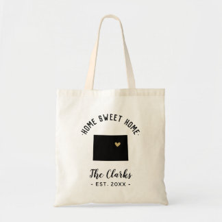 Colorado Home Sweet Home Family Monogram Tote Bag