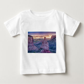 Colorado Independence Monument and City Lights Of Baby T-Shirt