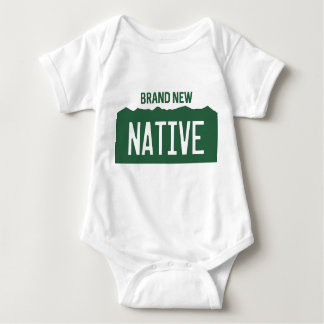 "Colorado License Plate Baby ""Brand New Native"" Baby Bodysuit"