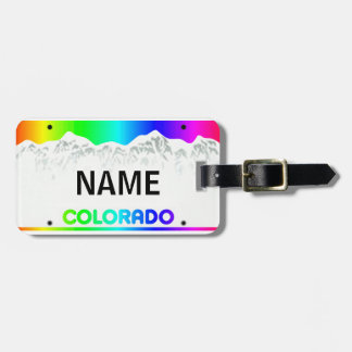 Colorado License Plate - Colorful Edition luggage Luggage Tag
