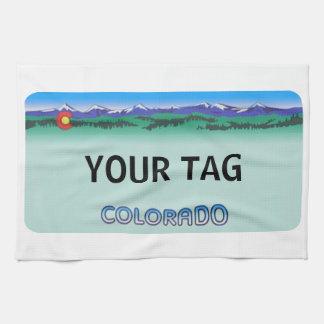 Colorado License Plate - Modern Kitchen Towel