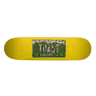 Colorado License Plate Toasted Autos Skateboard
