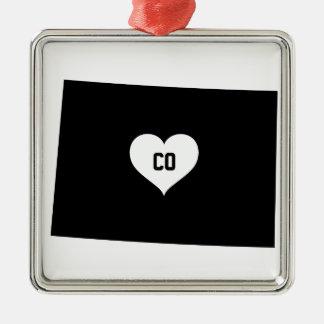 Colorado Love Metal Ornament