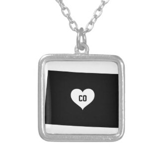 Colorado Love Silver Plated Necklace
