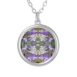 Colorado Lupin 2 Silver Plated Necklace