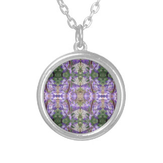 Colorado Lupin 4 Silver Plated Necklace