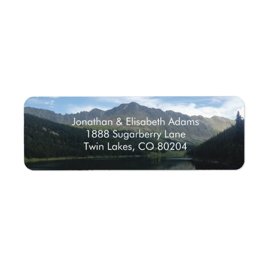 Colorado Majestic Mountains Return Address Label