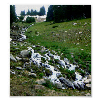 Colorado Melt Water Poster