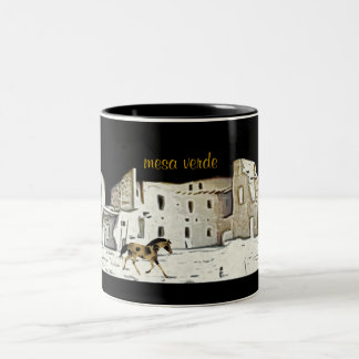 Colorado Mesa Verde National Park Two-Tone Coffee Mug