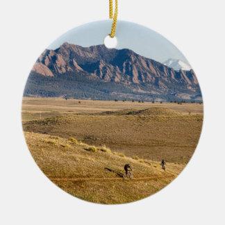 Colorado Mountain Biking Fun Ceramic Ornament